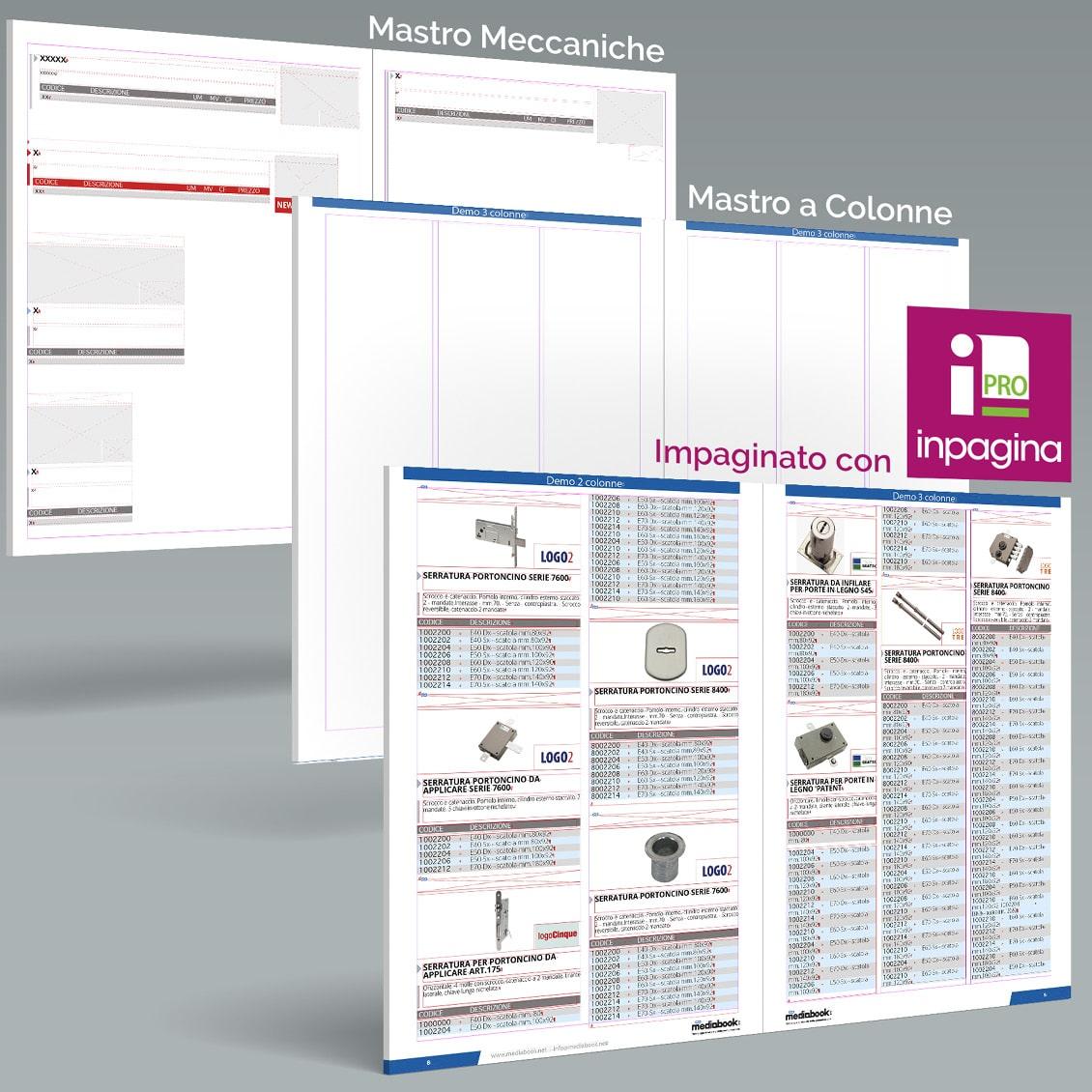 InPagina PRO - impaginazione a colonne di dati e grafica